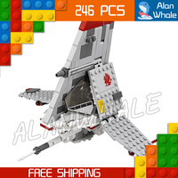 246pcs New Space WARS T-16 Jump Fighter amazing Skyhopper 10372 Model Building Blocks Children Toys Bricks Compatible With Lego