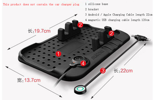 Image 5 - CHIZIYO New Design Multi functional Magnetic Charge Of Silicone Anti Slip Mat Car Navigation Mobile Phone USB Charger