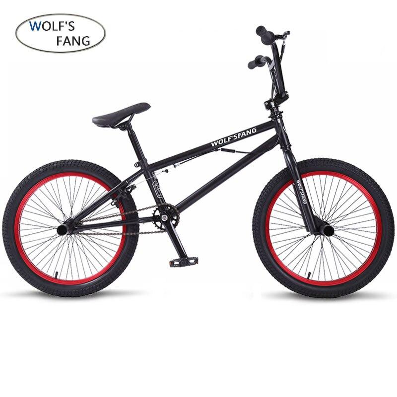 Wolf's fang 20 pouces BMX cadre en acier Performance vélo violet/rouge pneu vélo pour spectacle acrobatique vélo arrière fantaisie vélo de rue
