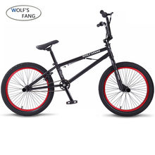 wolf's fang 20Inch BMX steel frame Performance Bike purple/red tire bike for show Stunt Acrobatic Bike rear Fancy street bicycle(China)