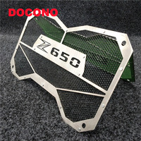 DOCONO Black Motorcycle High Quality Stainless Steel Radiator Guard Radiator Grille Cover For KAWASAKI Z650 Z