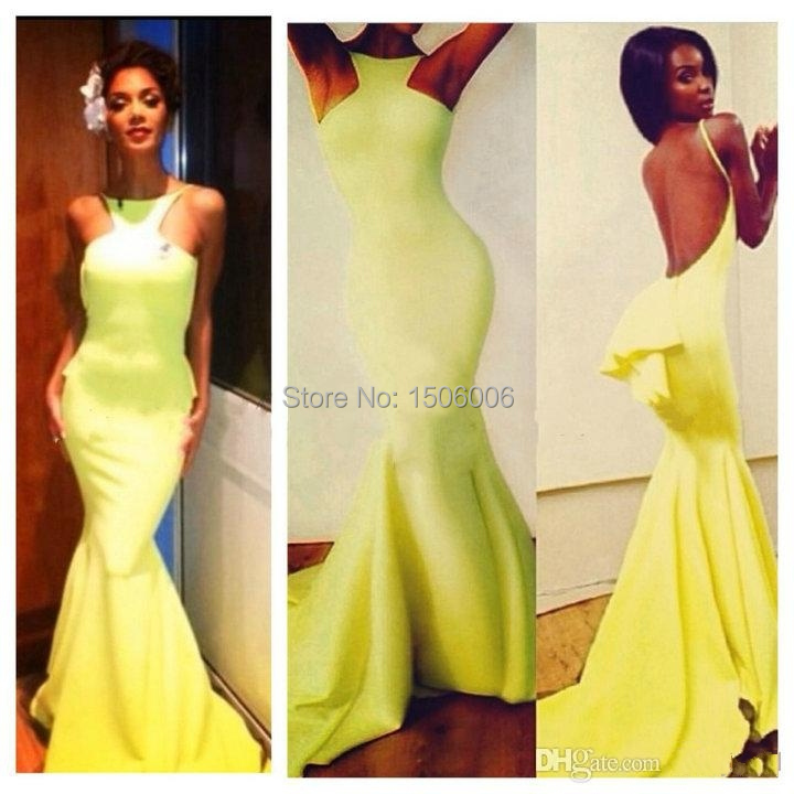 Backless Evening Gowns with Trains