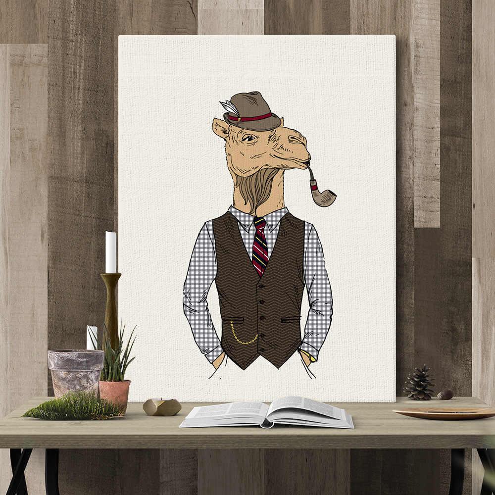 الإبداعية الحيوان الحصان جدارها صور لغرفة المعيشة الشمال الأيائل Steampunk من الديكور المنزل غرفة نوم المدخل الفن قماش