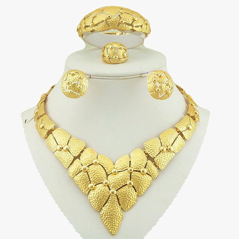 african gold jewelry sets  high quality jewelry sets fashion wedding jewelry necklace fine jewelry sets