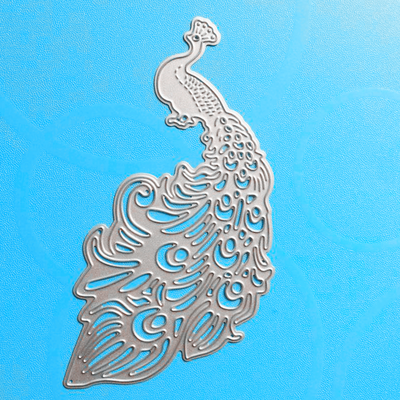 YLCD170 Peacock Metal Cutting Dies For Stencil Scrapbooking DIY Album Hiasan Kad Embossing Folder Die Cuts Template Mold