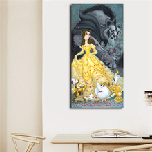 Animation Movie Beauty And The Beast Wallpaper Wall Art Canvas Posters Prints Oil Painting Wall Pictures For Bedroom Home Decor beauty beast movie wallpaper wall art canvas posters prints oil painting wall pictures for bedroom modern home decor accessories