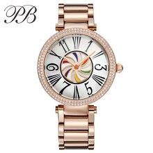 Hot Sale Top Brand Princess Butterfly Watch Women Gold Plated Popular Bracelet Watch with Crystal Gorgeous Quartz Watch HL637