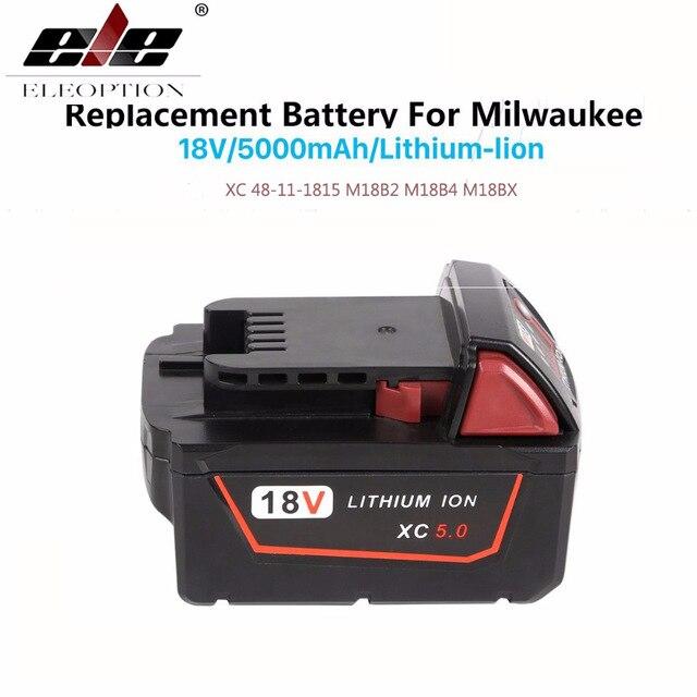 5000mAh 18V Li-Ion Replacement Power Tool Battery for Milwaukee For  M18 Battery 18V XC 48-11-18155000mAh 18V Li-Ion Replacement Power Tool Battery for Milwaukee For  M18 Battery 18V XC 48-11-1815