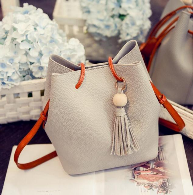 Women's bag HOT SALE SHOULDER BAG fashion Bucket vintage women crossbody bag tassel casual composite bag ladies handbag h66