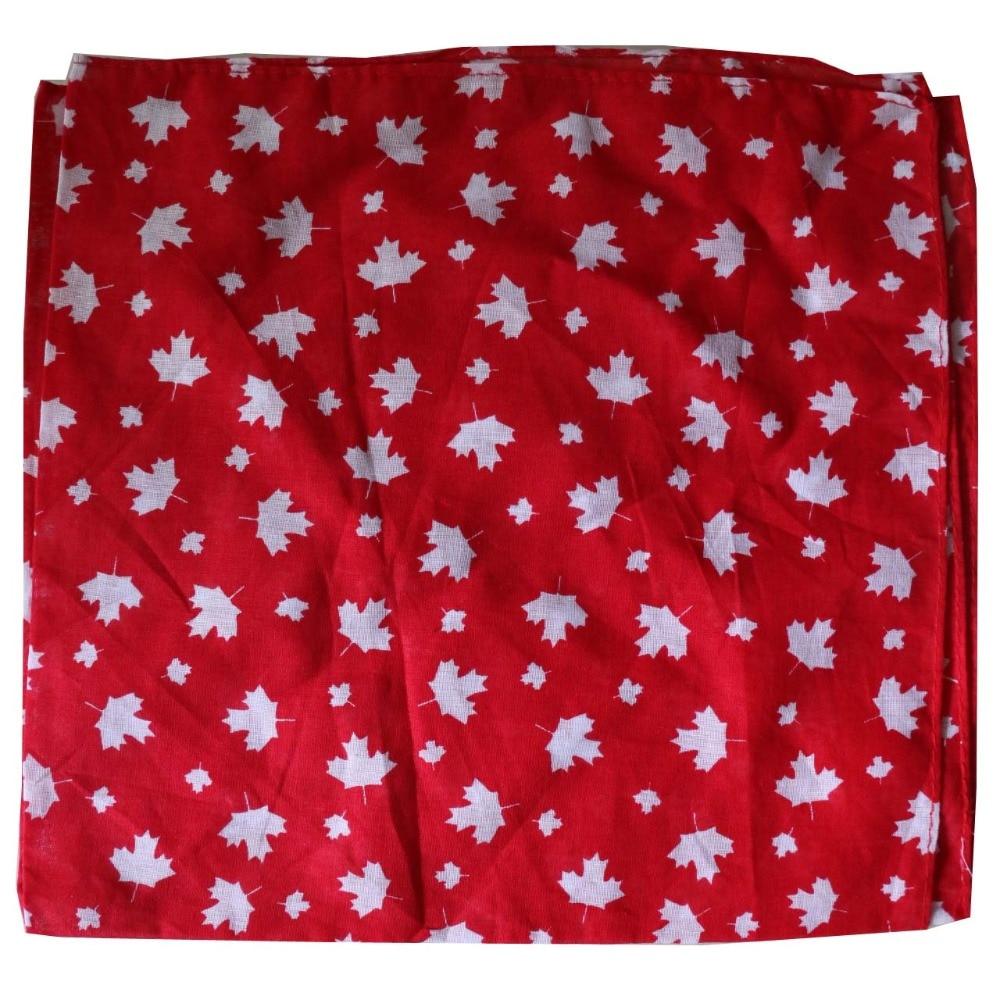 Free Shipping 2017 New Women Mens Cotton Black White Red Maple Leaf Scarf Bandanas