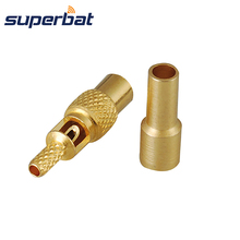 Superbat MMCX Crimp Jack Straight RF Coaxial Connector for Cable 1.13mm,1.37mm RG178