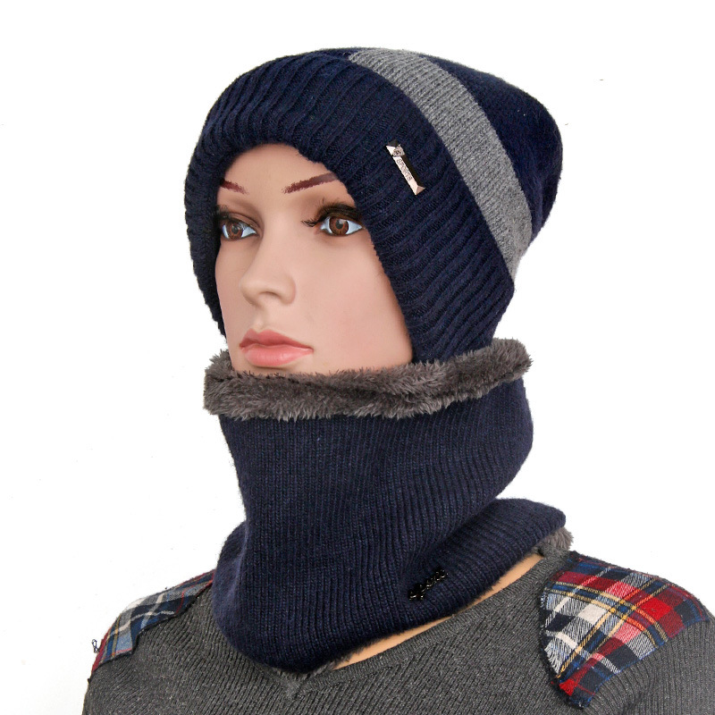 Winter Hats Skullies Beanies For Men Women Beanie Kniting Plain Black Hat  With Collar Skullies   Beanies Thickening Female Caps a48cae23ce3