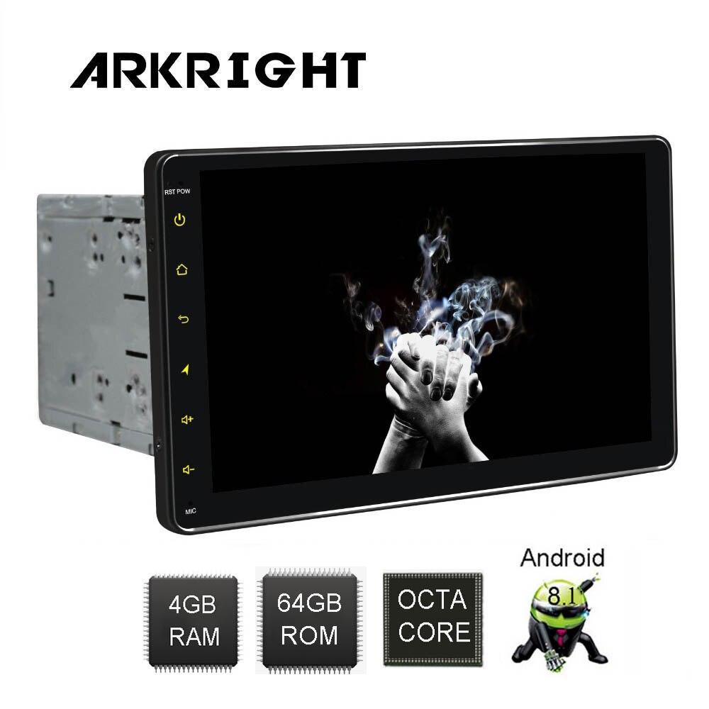 ARKRIGHT 9 ''2Din 4 + 64 GB HD Android 8.1 autoradio Wifi/GPS/Bluetooth universel autoradio lecteur de musique multimédia avec DSP