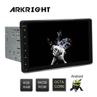 ARKRIGHT 9'' 2Din 4+64GB HD Android 8.1 autoradio Wifi/GPS/Bluetooth universal Car Radio Multimedia music Player with DSP