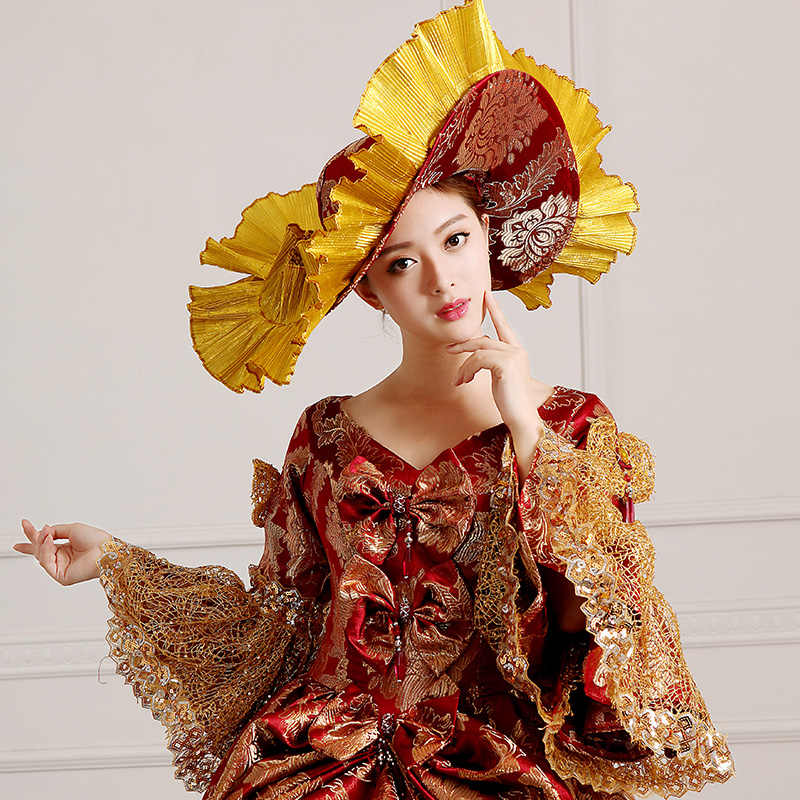 3cd2f1fed986 ... Ladies Medieval Renaissance Victorian Dresses Red Gold Masquerade  Costumes Queen Ball Gowns For Ladies S- ...