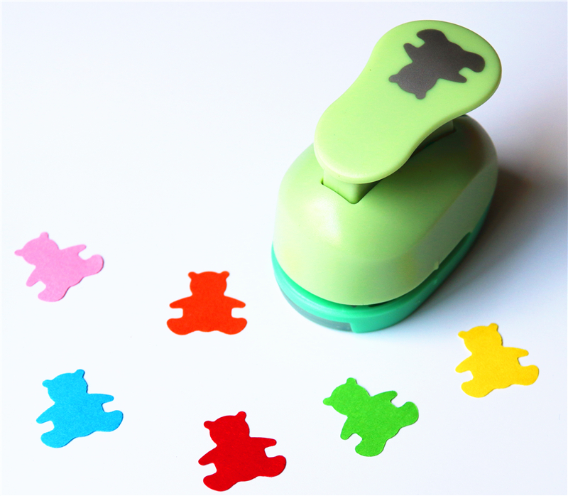 1 Inch Bear Design Eva Foam Punch Paper Punches Scrapbooking Cutter Hole Punch Craft Punching For DIY Artwork