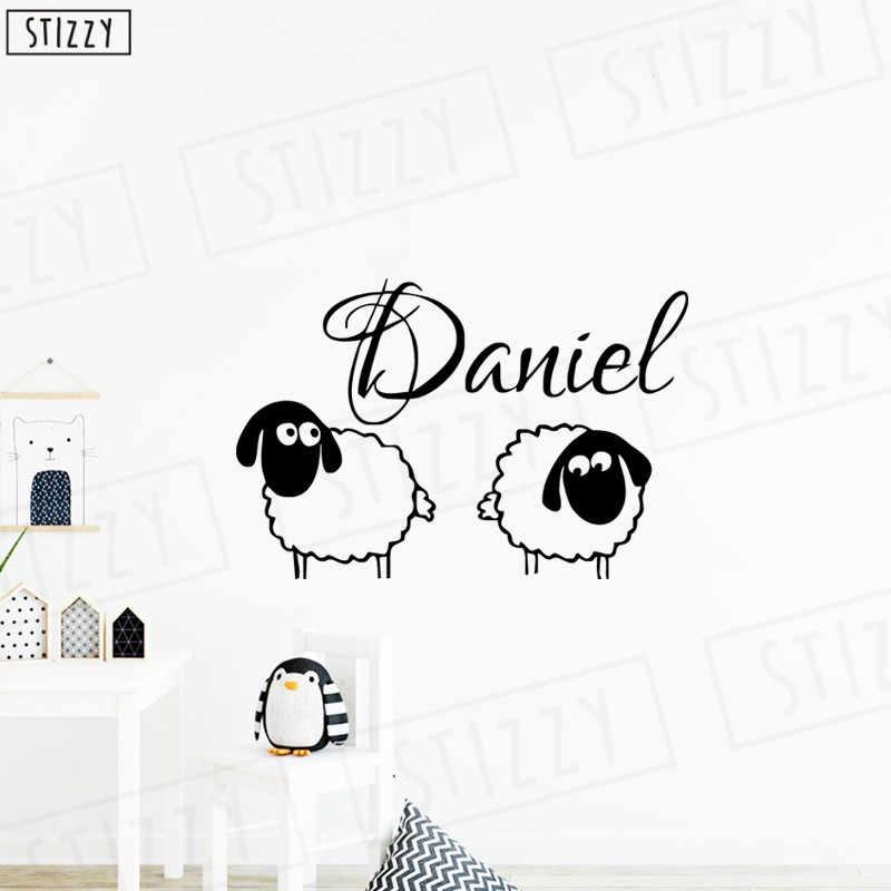 Autocollant Mural Stizzy Dessin Animé Beau Mouton Nom