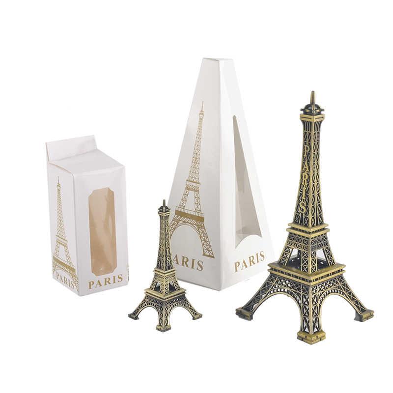 Paris tour Eiffel modèle Bronze ton décoratif Articles d'ameublement décoration Vintage artisanat moule Figurine Statue décor à la maison