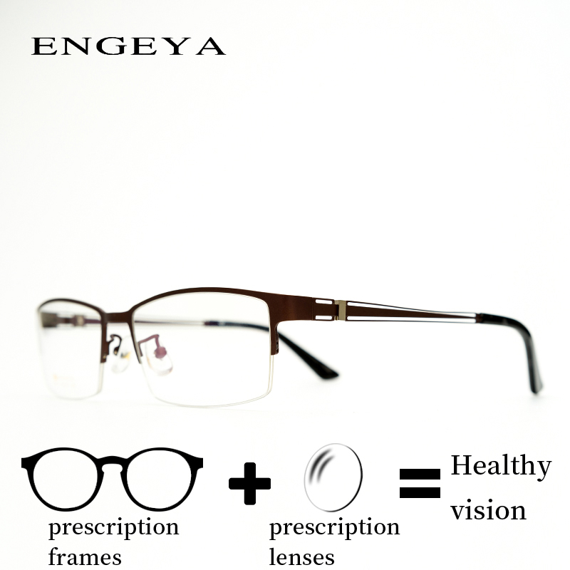 Alloy Prescription Eye Glasses Men Transparent Trendy Optical Reading Hyperopia Eyeglasses Hallow Design IP6027