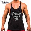 Hombre Tank Top de Algodón de Fitness Stringer Chaleco Ocasional Hombre camisetas Camisetas Interiores Sin Mangas Hombre Singletes Culturismo