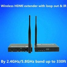 328ft Wi-fi + Loop Out + IR + HDMI Splitter Extender 1080P Wi-fi HDMI Audio Video Transmitter Receiver Like HDMI Splitter