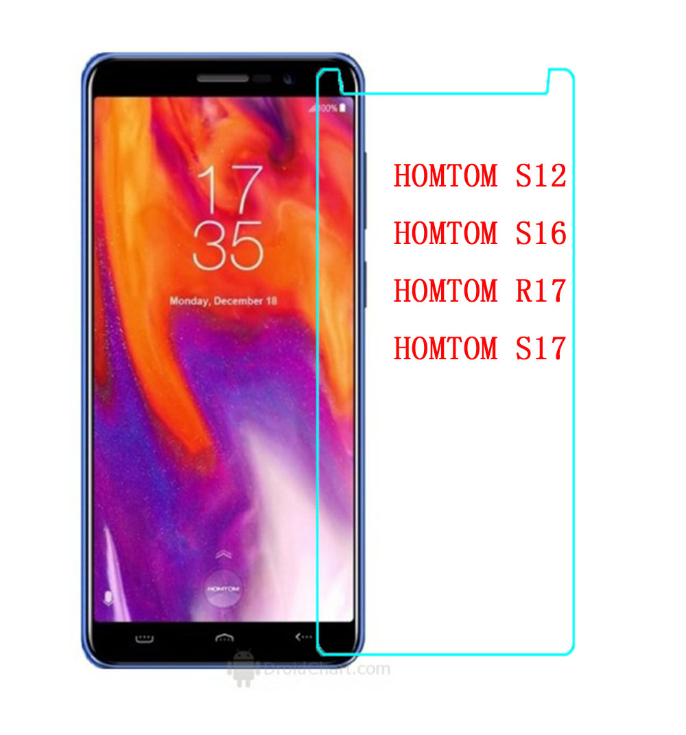 <font><b>HOMTOM</b></font> S16 S17 S12 S <font><b>16</b></font> S 17 S 12 Tempered Glass 9H 2.5D Premium Screen Protector Film For <font><b>HOMTOM</b></font> R17 Mobile Not full cover case image
