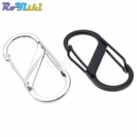 100pcs/pack Alloy Metal Buckle Mini 8 Shape Carabiner Key Chain Fast Hook Portable Outdoor EDC Tool Camping Hiking Snap Clip