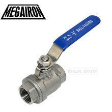 Free US Shipping High Quality 1/2 Female Full Port Ball Valve 2 Pcs Vinyl Handle WOG1000 Stainless Steel SS316