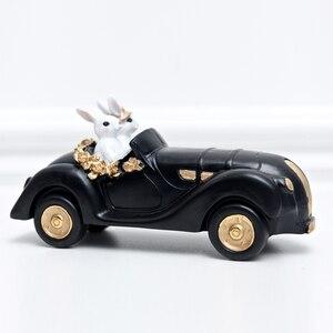 Image 5 - אמריקאי משפט כפרי אור יוקרה ארנב פסלוני מלאכת שחור זהב מתגעגע ארנב נורדי סגנון עיצוב הבית אבזרים