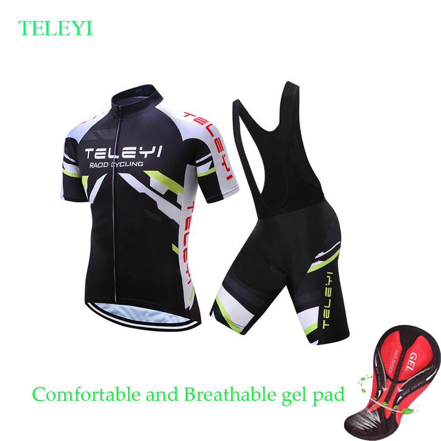 700983ceaec 2019 Short Sleeve Cycling Jersey Set Men Summer Mountain Bike Clothing Pro  Team suit Mtb Bicycle
