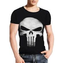 Marca de Ropa de Verano Cráneo Punisher Almas Oscuras Impresión 3D T camisa de Los Hombres Camisetas 100% Algodón Camiseta Hombre Camisas Blusa Camiseta A1(China (Mainland))