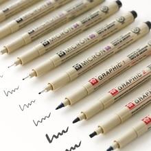 Sakura Профессиональный пигма арт маркер ручка для рисования эскиз Archival черные чернила кисти канцелярские товары анимация товары для рукоделия