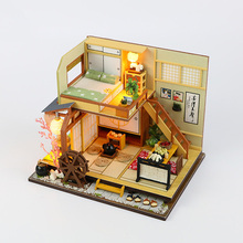 SLPF Doll House Furniture DIY Miniature Assemble Model Dust Cover 3D Wooden Dollhouse Christmas Gifts Toys For Children New J18