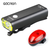 2017 New GACIRON USB Rechargeable Bicycle Handlebar LED Lights MTB Bike Torch Flashlight Cycling Headlight With