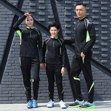 Футболки для футбола, детские футболки для мужчин и женщин, Комплект футболок с длинным рукавом для футбола, костюм для бега, тренировочный костюм, одежда