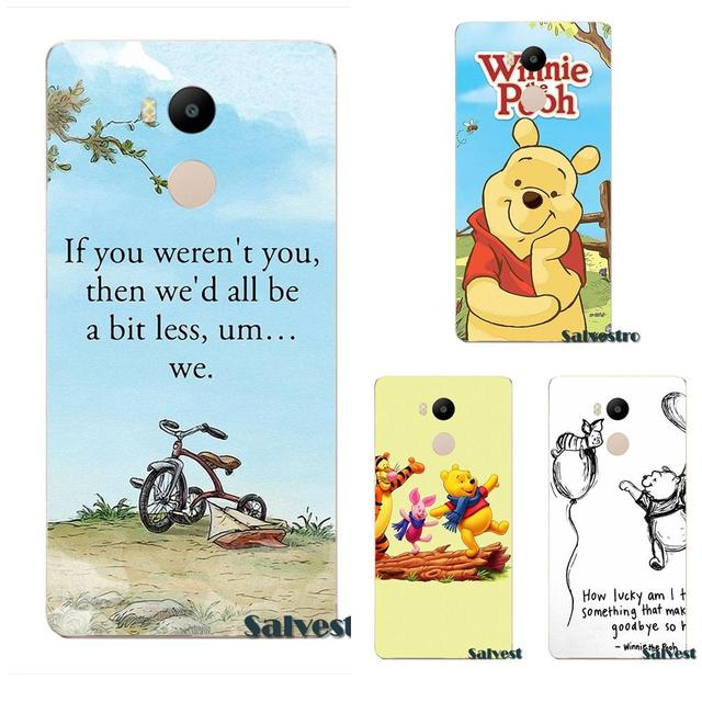Bixedx Tpu Hot Selling Winnie Pooh Lovely Quotes For Xiaomi Redmi 4