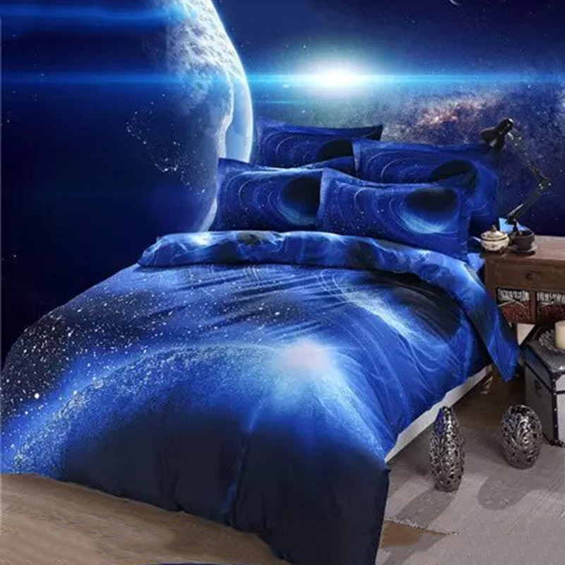 3D Galaxy Bedding Sets Twin Queen Size Universe Outer Space Themed. Galaxy  Themed Bedroom RPI