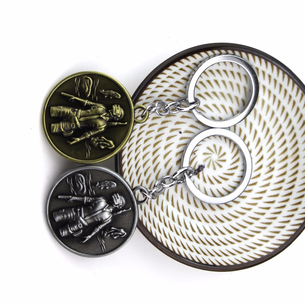 Game Playerunknowns Battlegrounds PUBG 2017 Necklace pendants keyring antique women men Christmas gift Sweather Chain