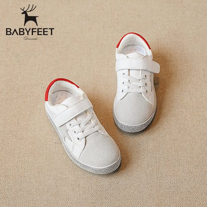 2017 Autumn Brand Babyfeet High Quality Children White Shoes PU Leather Start Running kids Sports shoes baby Girls Boys Sneakers kids shoes girls boys pu leather lace up high children sneakers girl baby shoes sport autumn winter children shoes