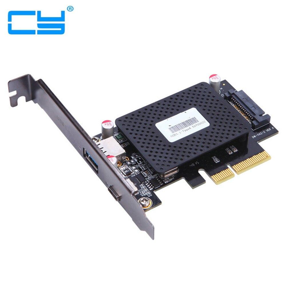 10pcs/Desktop 10Gb/s USB 3.1 Type-C + USB Rapid Changing Port PCI-e 4x Card PCIe to external USB-C Adapter wholesale