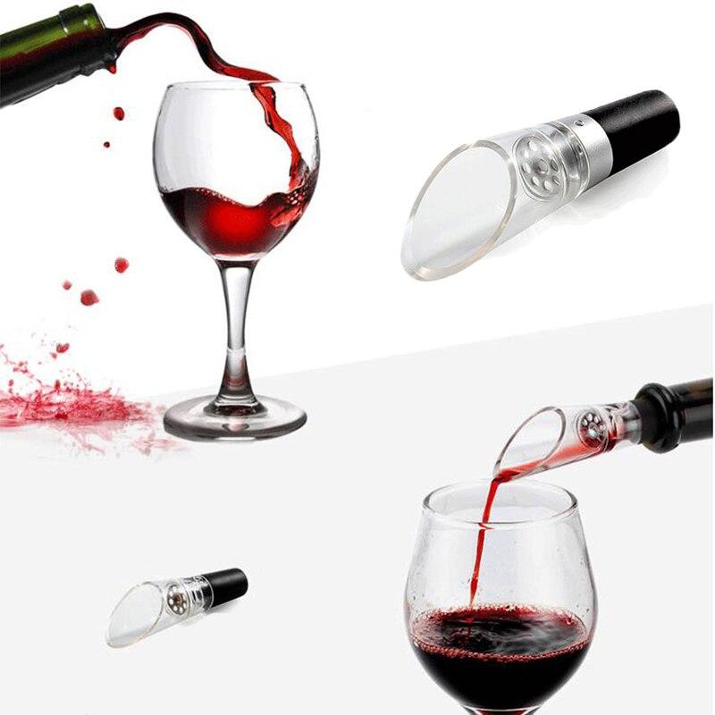 Aérateur de vin qualité supérieure décanteur rouge vin verseur Pour bouteille liège décanteur verseur Portable Bar outil cuisine accessoires