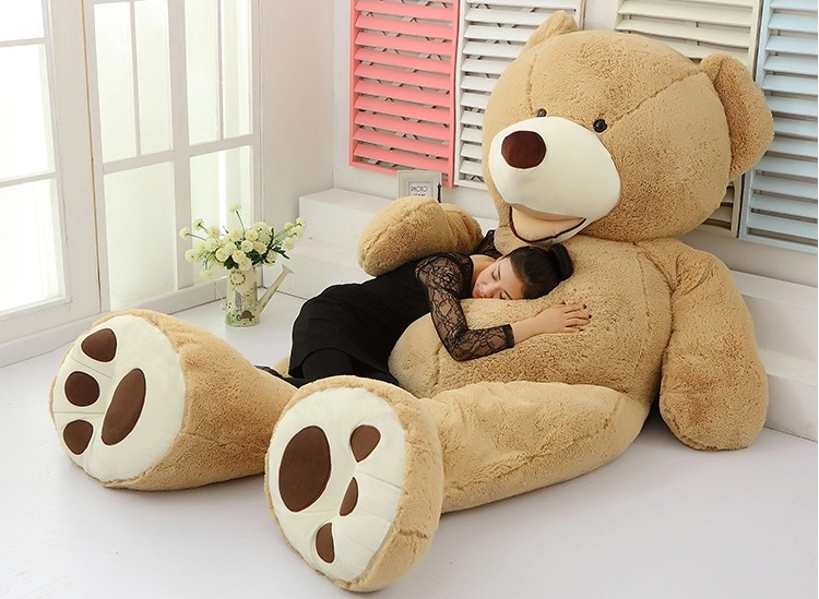 1 pcs 100cm giant teddy bear plush toy life size teddy bear kids toys birthday gift big bear. Black Bedroom Furniture Sets. Home Design Ideas