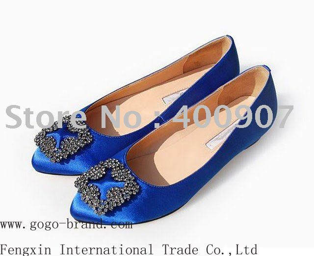 8c97e1dc2 Designer crystal flat women party dress shoes-in Women s Flats from ...