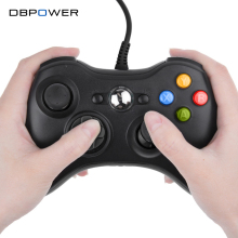 DBPOWER USB Wired Joypad Gamepad Black Controller For Xbox 360 Joystick For Official Microsoft PC for Windows 7 / 8 / 10