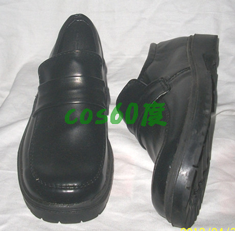 Final Fantasy King Black Flat Cosplay Shoes S008
