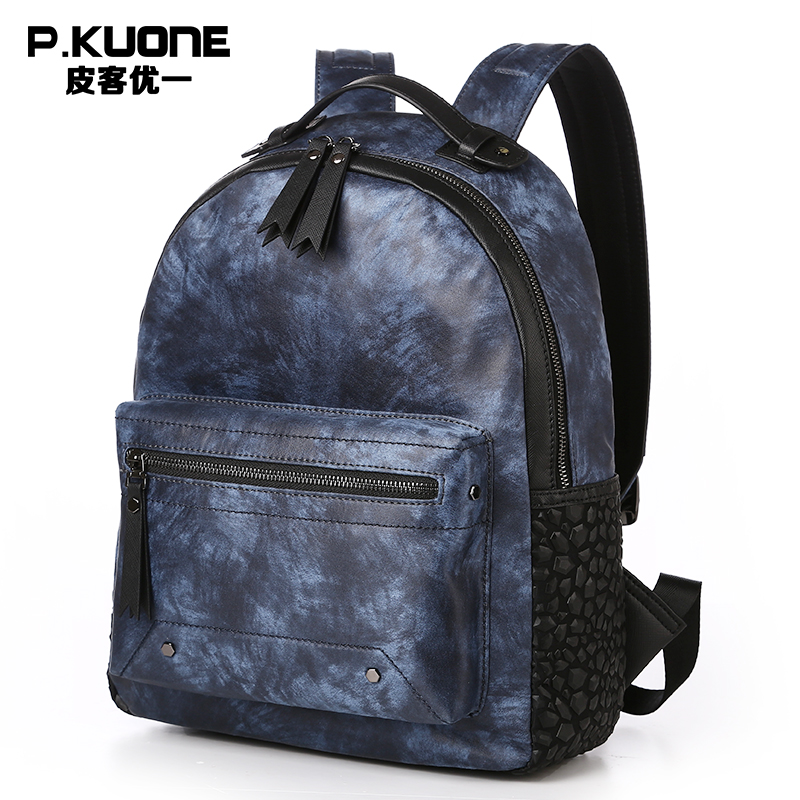 P.KUONE 2018 New Designer Fashion Style Nylon School Backpack For Teenager Girls Men Travel Shoulder Bag Women Quality Backpack