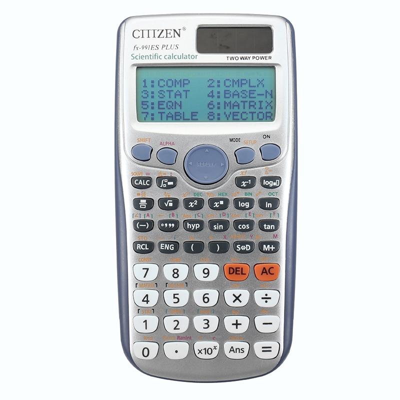 YUNAI Handheld Students Scientific Calculator 991ES PLUS LED Display Pocket Functions Ca ...