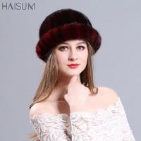 Autumn and winter mink hat lady warm fashion mink fur hat han edition MZ05