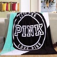 Hot Sale Kintting Blankets Pink VS Secret Blanket Manta Fleece Blanket Sofa Bed Plane Travel Plaids