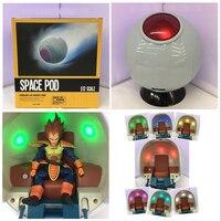 Dragon Ball Action Figure Saiyan Space Pod LED Light PVC Action Figure Collectible Model Toy 18cm KT3708